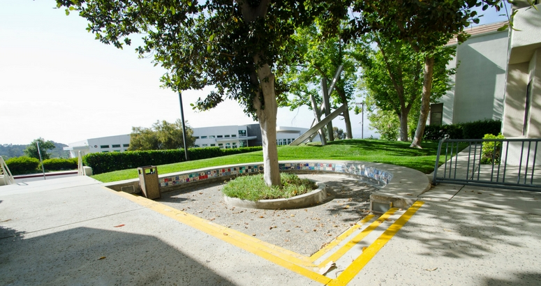 Image of courtyard in front of Keifer Hall at AJU