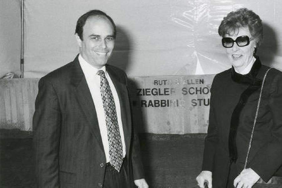 Photograph of Dr. Wexler and Ruth Ziegler