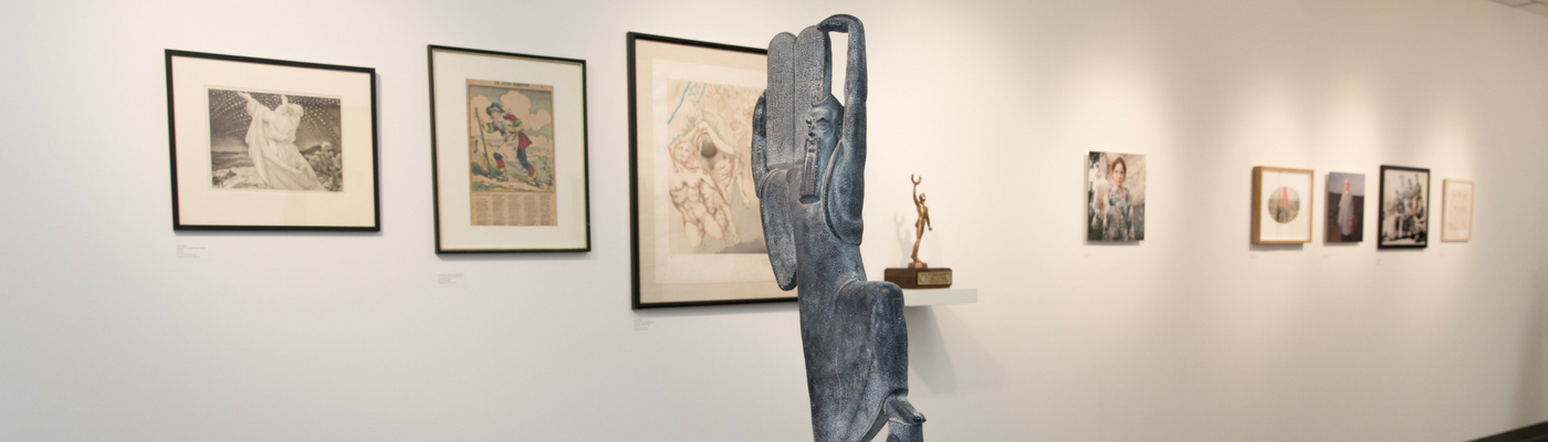 Photograph of art exhibit in the Project Room Gallery