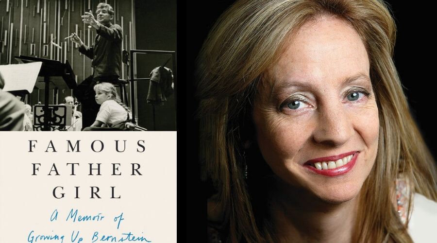 Image of Jamie Bernstein and her book cover
