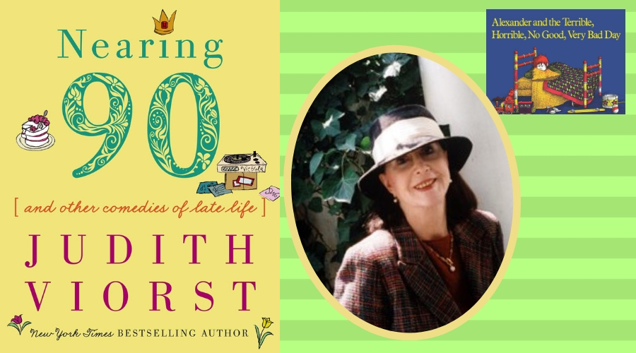 Image of Judith Viorst and book cover for Nearing 90
