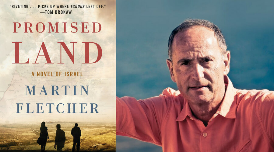 Image of Promised Land Book Cover and Martin Fletcher
