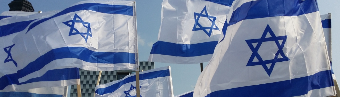 Photograph of israeli flags
