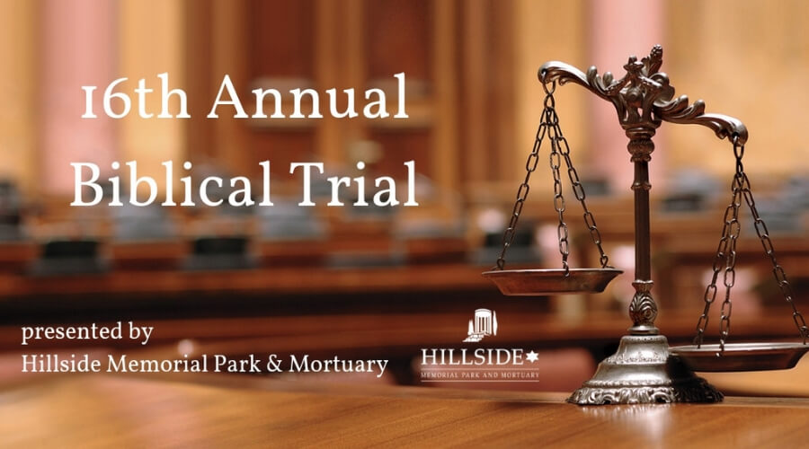 Image of Courtroom with Scale of Justice - 16th Annual Biblical Trial