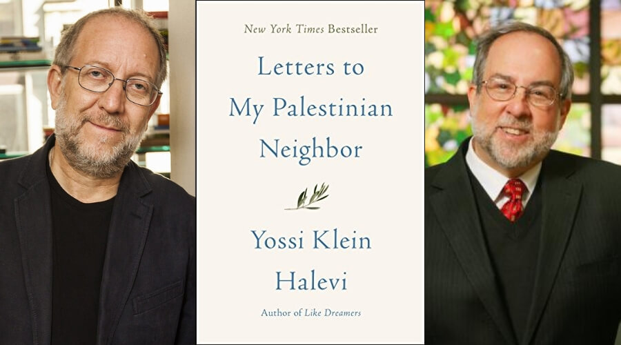Image of Book Cover, Author Yossi Klein Halevi, and Rabbi Ed Feinstein