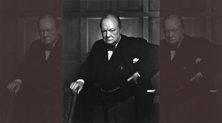 Portrait of Churchill