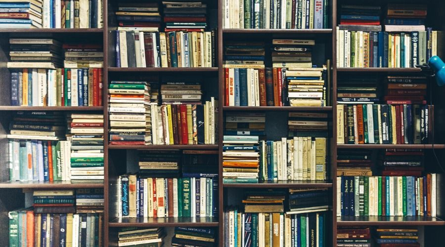 Photo of Books on a Bookcase
