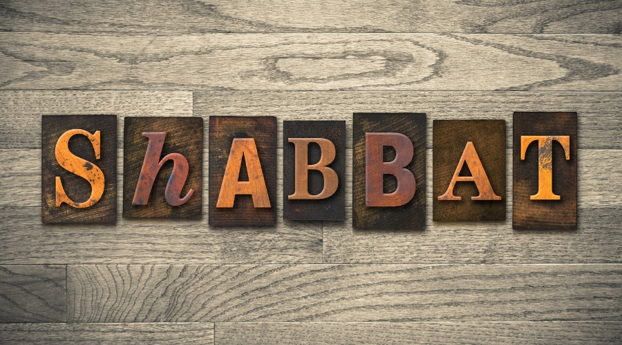 Photo of Shabbat Sign