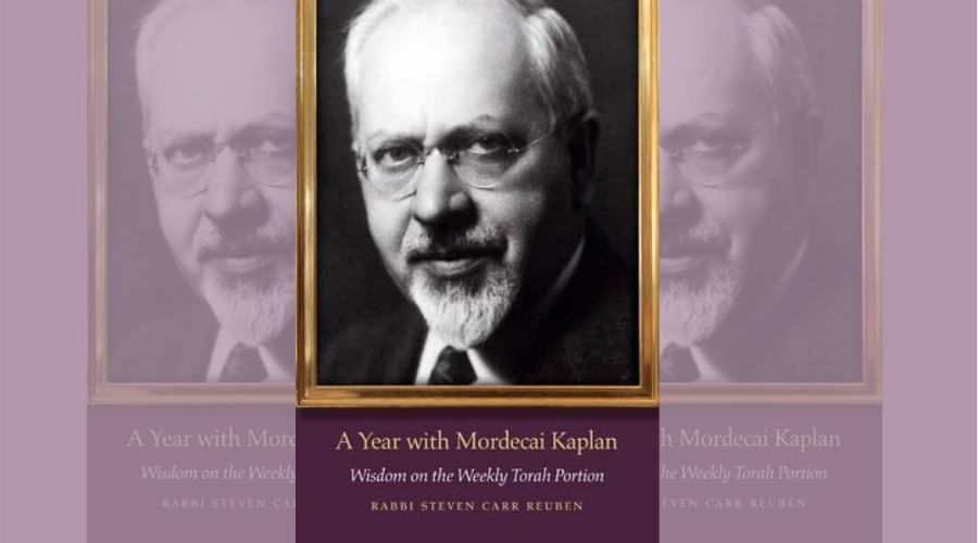 Photo of Book Cover A Year with Mordechai Kaplan