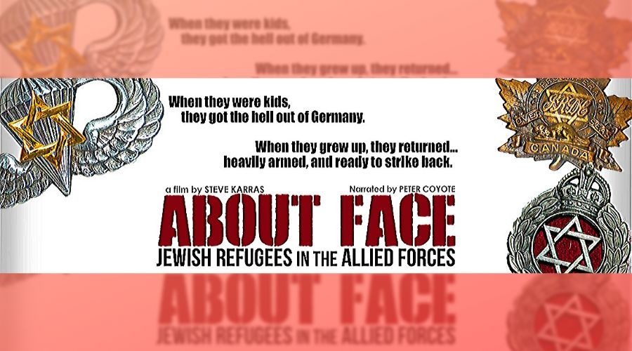 movie poster for About Face: Jewish Refugees in the Allied Forces
