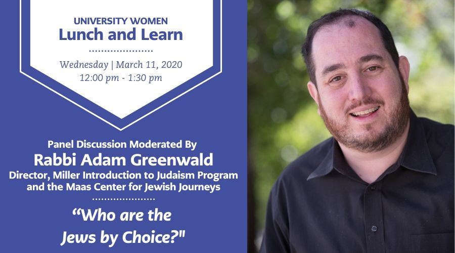 Photo of UW Lunch and Learn Description with Rabbi Adam Greenwald