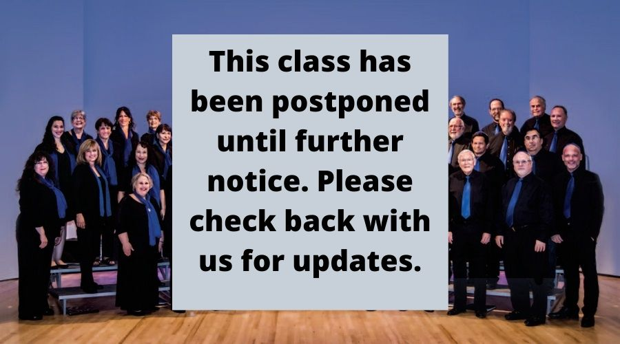this class has been postponed through the first week of April, 2020. Please monitor your email for updates from instructors
