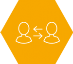 Icon of a graphic of two people